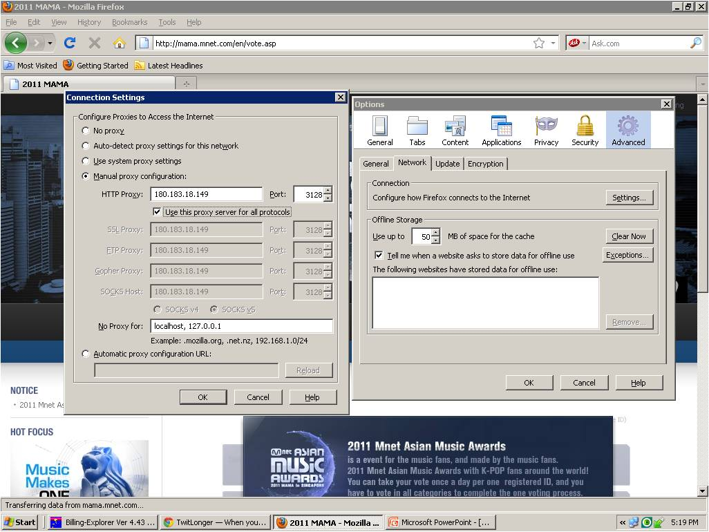 how to change ip address for votes